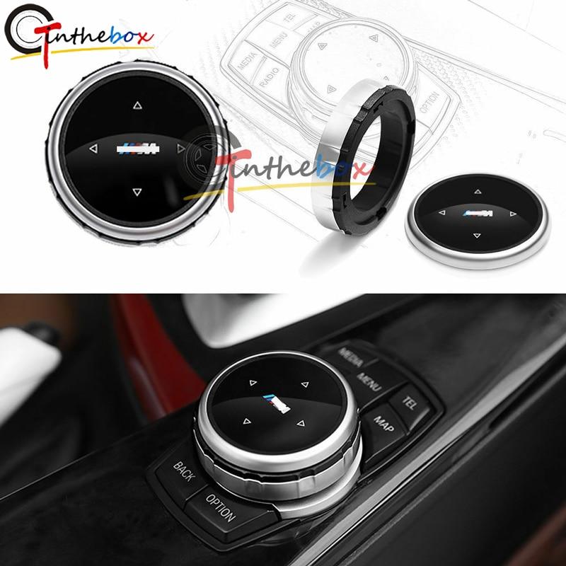 GTinthebox Silver Multi-Media Control Knob Trim For BMW M1 2 4 6 7 3 GT5 X1 X3 X4 X5 X6 IDRIVE