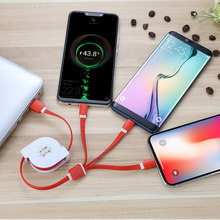 Tutew 3in1 USB Type C Micro USB Cable Type-c for Samsung Galaxy S8 / S9+ Plus for iPhone Charger Cable 1M Fast Charging USB C(China)