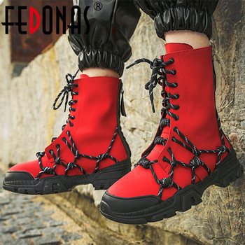FEDONAS Platform Female Boots Autumn Winter Warm Women Genuine Leather Ankle Boots Fashion Motorcycle Boots Party Shoes Woman