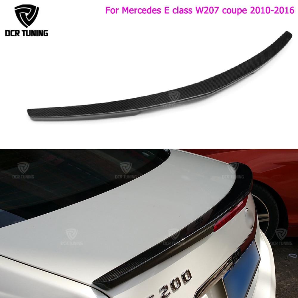 E classe w207 c207 asas de spoiler do tronco do pára-choques traseiro de fibra de carbono para mercedes 2010 - 2016 2 - porta cupê E250 E350 CDI E500 E550