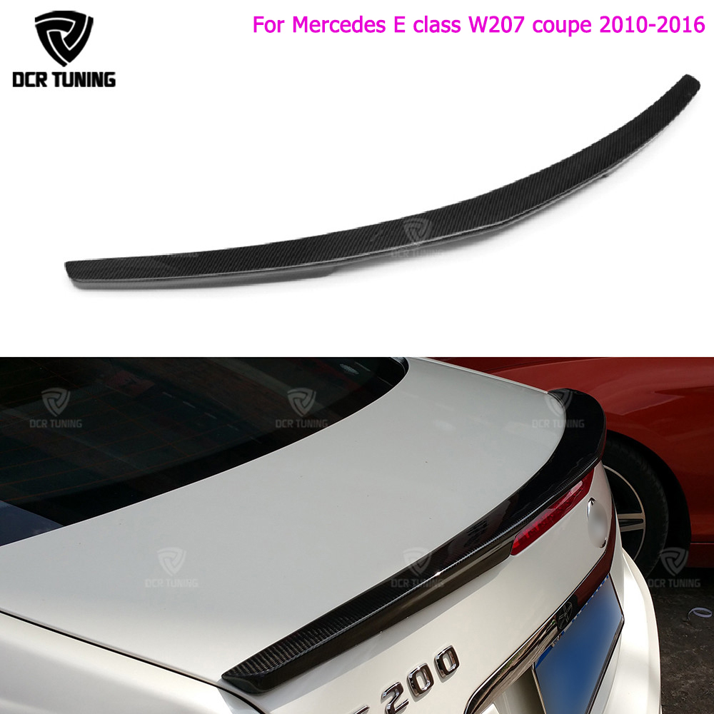 E klases w207 c207 oglekļa šķiedras aizmugurējā bufera stumbra spoileru spārni mercedes 2010 - 2016 2 - durvju kupeja E250 E350 CDI E500 E550