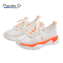 PandaQ Kids Shoes Sneakers Mesh Zapatos Breathable Para Tenis Infantil Toddler Boy Cctwins off White Brand Rubber Casual Foot