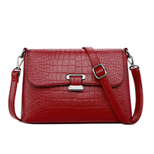 Genuine Leather Women Messenger Bags Small Crocodile pattern Crossbody Bags For Women Shoulder Bag Female Handbags цена