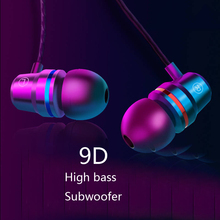 Universal Metal Wired earphone High bass stereo In-Ear Earphones With Microphone headset earbuds For iphone samsung smart phone joyroom 3 5mm wired earbuds earphones in ear for xiaomi samsung phone computer in ear sport earphones with microphone stereo