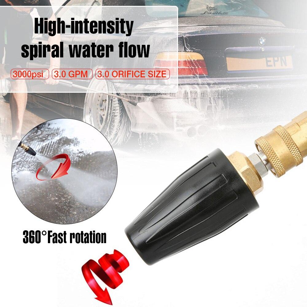 1% 2F4% 22 вращающийся спрей турбо сопло высокое давление мощность шайба 360 градус турбо сопло наконечники 3600 фунт / кв. Дюйм автомобиль очистка заглушка спрей