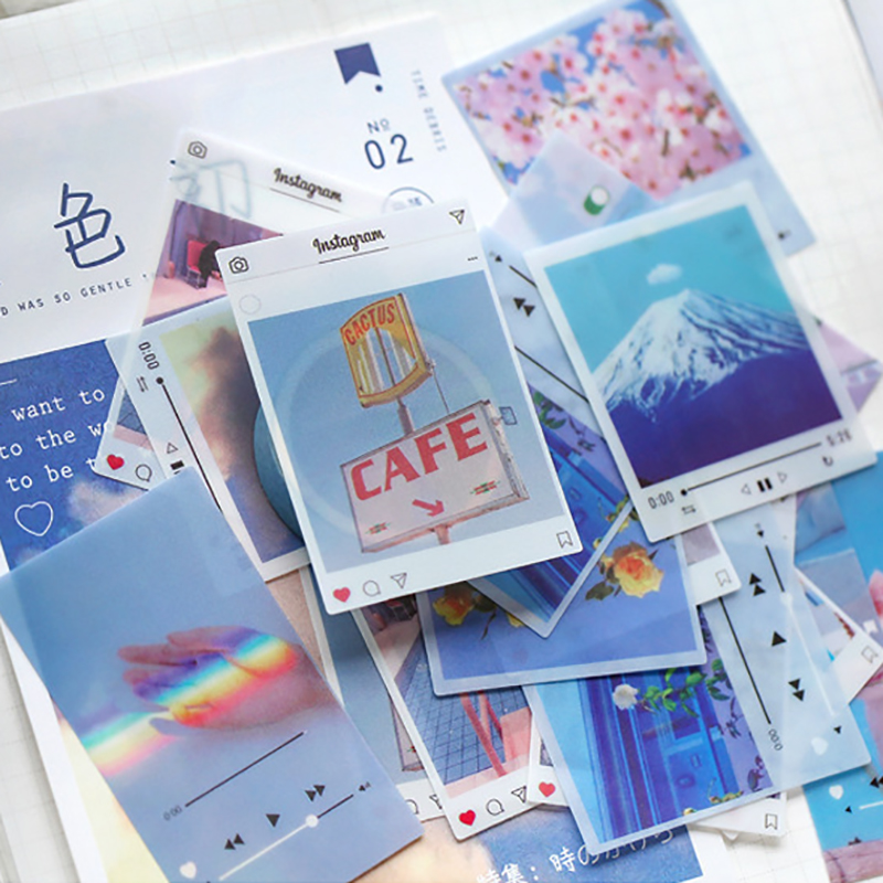 40/80/100 Pcs/Pack Vintage Aufkleber INS Stil PVC Foto Requisiten DIY Tagebuch Journal Dekoration Album Scrapbooking Label aufkleber
