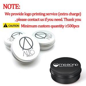 Image 5 - 50Pcs 5g 10g 15g 20g 30g 50g Aluminum Jars Empty Cosmetic Makeup Cream Lip Balm Gloss Metal Aluminum Tin Containers