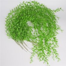 2019Simulation Artificial Weeping Willow Leaves Wall Vines Simulation Leaf For Home Office Interior Green Plant Decoration