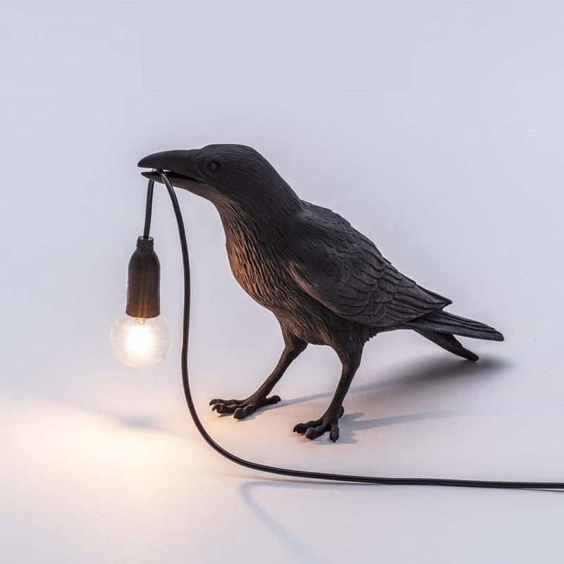 Seletti Bird Lamp Led Table Lamps Modern Resin Crow Desk Lamp For Living Room Bedroom Light Fixtures Wall Sconce Home Art Decor
