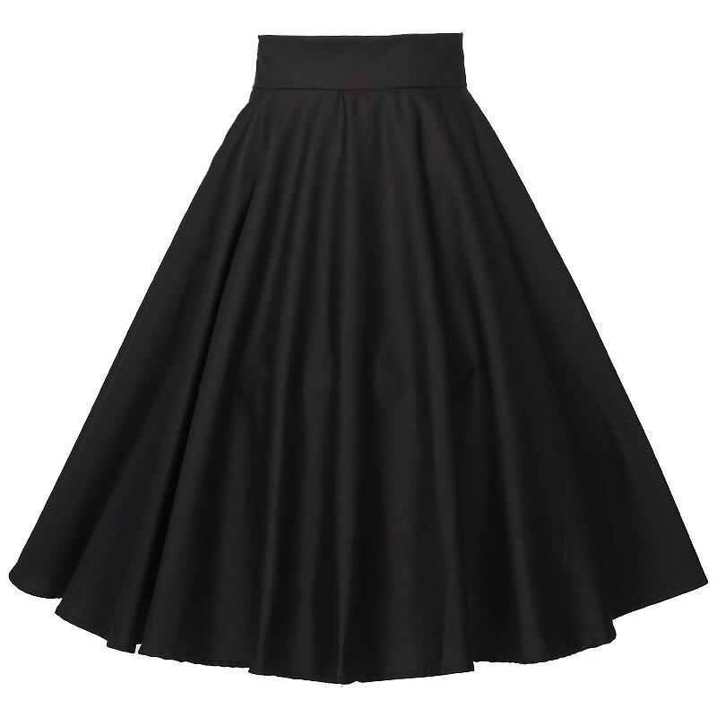 Пышные юбки для танцев, вечеринок, девочек, полный круг, черные, богемные, хлопковые, xxxL размера плюс, Европейский дизайн, 50 s, юбка с