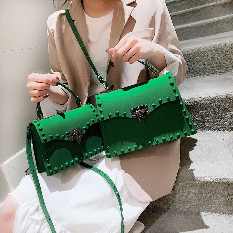 Rivet Fashion Crossbody Bags For Women 2020 Luxury Handbags Women Bags Designer Jelly Bag Women's Shoulder Bag Sac Main Femme