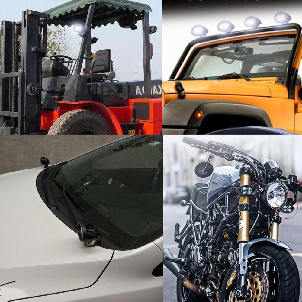 20 W LED Kerja Ringan Offroad Fog Lamp Mobil Auto Truk ATV Motor - Lampu mobil - Foto 6