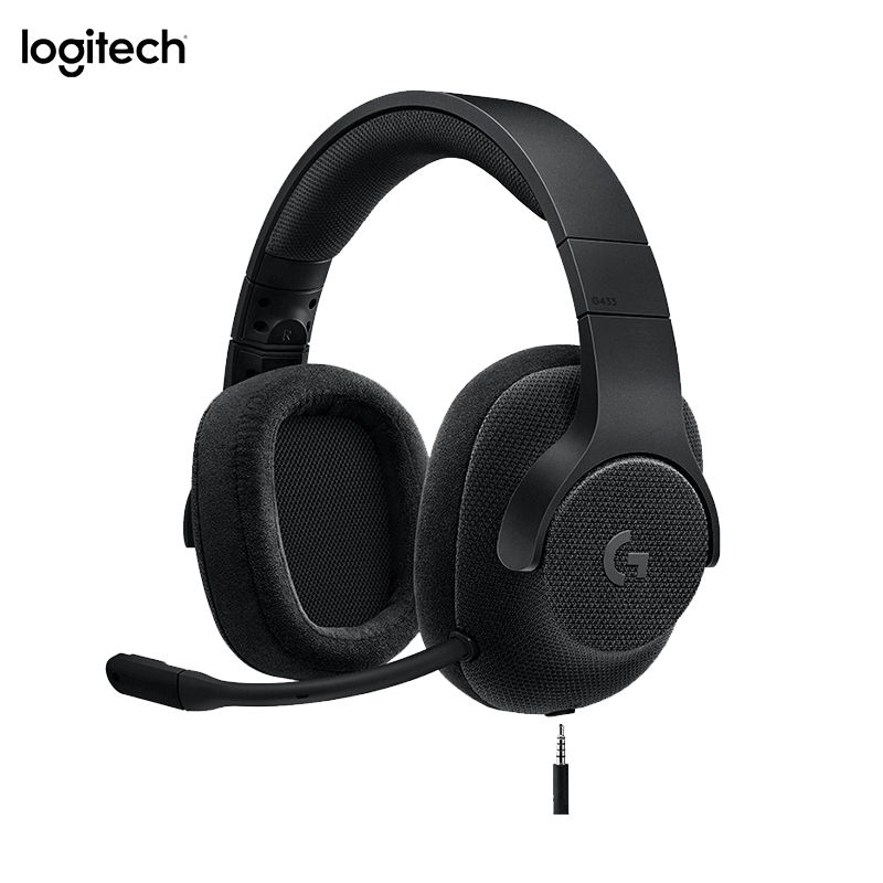 Logitech G433 Gaming Headphones 7.1 Surround For All Gamer Wired Headsets With MIC For PC PS4 Xbox One Nintendo Switch VR PC image