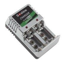 Универсальный AA AAA перезаряжаемый аккумулятор зарядное устройство 9 в Ni-MH Ni-Cd батареи настенное настольное зарядное устройство для путешествий ЕС вилка