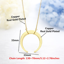 Crescent Moon Necklaces For Women Accessories Stainless Stee