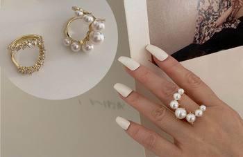 Bague perle blanche