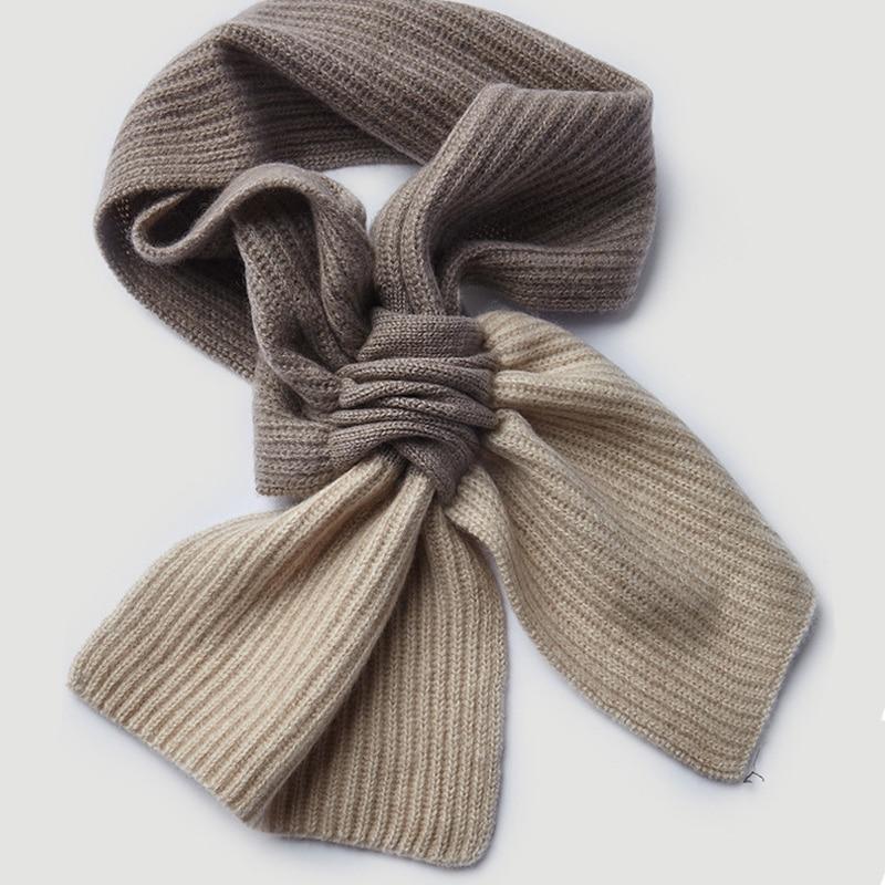 100% écharpe en cachemire naturel pour femmes hommes enfants hiver chaud cachemire col manches écharpe 2019 nouveau tricoté écharpe en cachemire et enveloppe - 3
