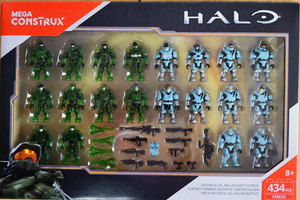 Mega Bloks Construx Halo bloques de construcción FRM20 Faithful vs Fallen juguetes originales (sin abrir)