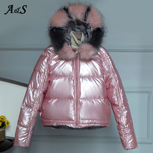 Winter Jacket Women Fur Collar Parka Ladies Puffer Coat Elegant Feminine Cotton Padded Womens