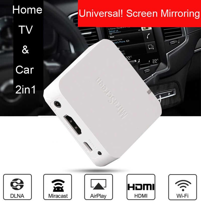 اللاسلكية واي فاي عرض ربط شاشة الهاتف إلى HDMI AV سيارة التلفزيون آيفون 6 7  8 11 برو ماكس هواوي P20 P30 ل شاومي iOS أندرويد| | - AliExpress