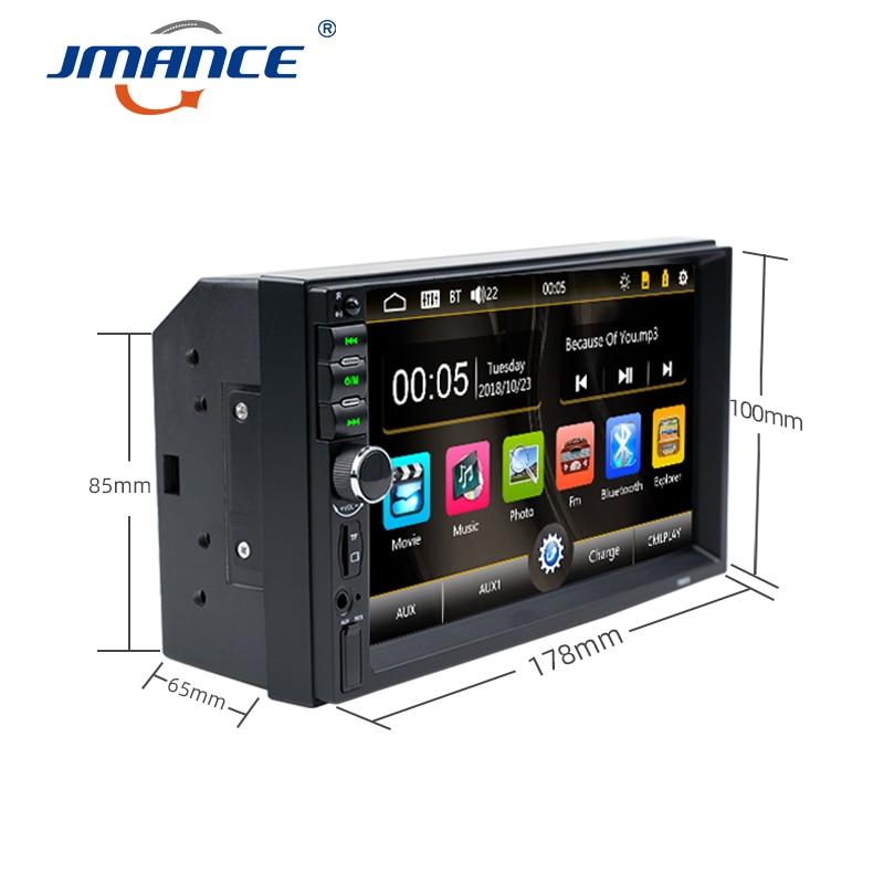 cheapest JMANCE Autoradio 2 Din Car Radio 7inch Touch Screen Dash MP5 Bluetooth USB Car Digital Multimedia Player Rear View Camera