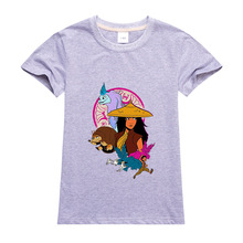 Disney Cartoon Kids T Shirt Raya and The Last Dragon Printing Clothes Anime Figures Clothing Boys Girls Toddler Tops Infant Tees