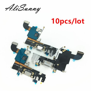 Image 1 - AliSunny 10pcs Charging Port Flex Cable for iPhone 6 6S 7 8 Plus XR XS USB Dock Connector Charger Ports for iPhone X 5 5S 5C