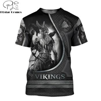 2020 Summer Fashion Viking Odin Mens t-shirt  Raven Tattoo 3D Printed Harajuku Short sleeve T shirts Unisex Casual tops KJ0147 1
