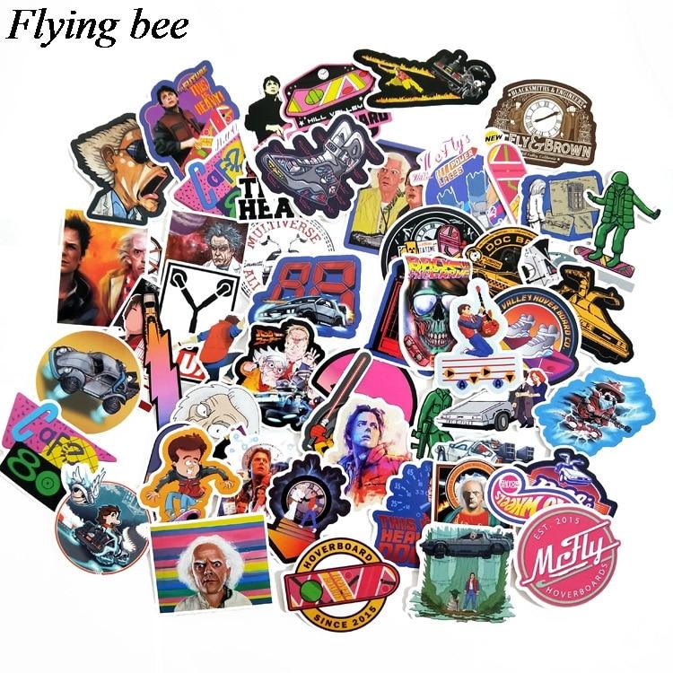 טלוויזיות 25 29 Flyingbee 57 יח חוזר מדבקות בעתיד מדבקות Waterproof עבור חדר שנת מדבקות מדבקות מחשב נייד רכב החפץ קישוט X0701 (5)