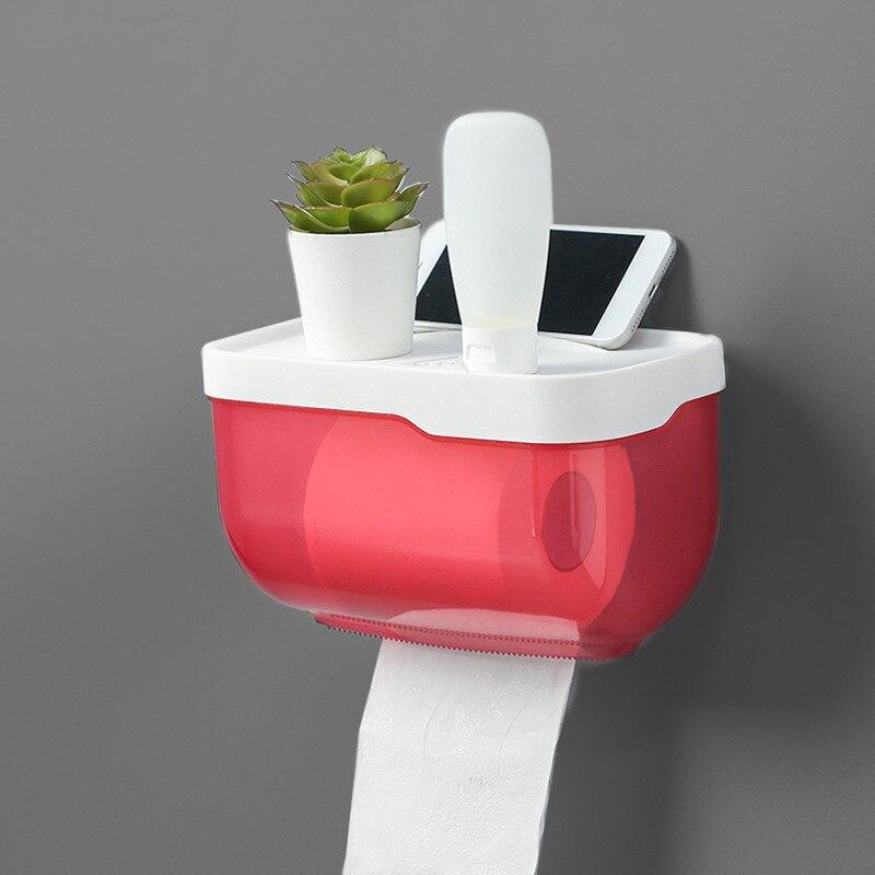Mobile-Phone Rack Paper Towel Box Waterproof Toilet Paper Holder Mobile-Phone Storage Shelf Wall Mounted Rack Tissue Box New