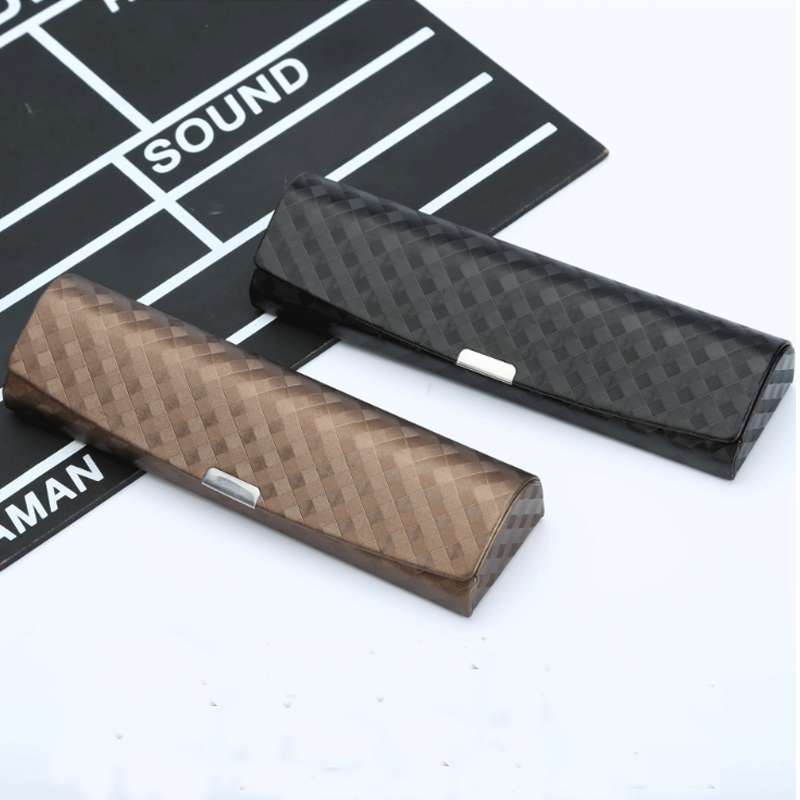 New Exquisite Portable Glasses Case Leather Square Spectacle Case Reading Glasses  Glasses Case