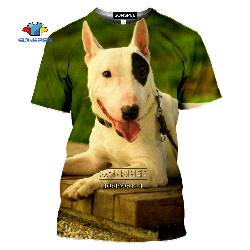 SONSPEE Funny <font><b>Bull</b></font> Terrier Dogs Men's T-<font><b>shirt</b></font> 3D Print <font><b>Pit</b></font> <font><b>Bull</b></font> Animals Tshirt Summer Casual Short Sleeve Women O-neck Fitness image