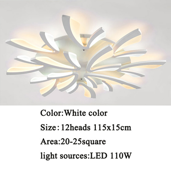 Led ceiling light for living room bedroom White/Black Simple Plafond led ceiling lamp home lighting fixtures AC90-260V 13