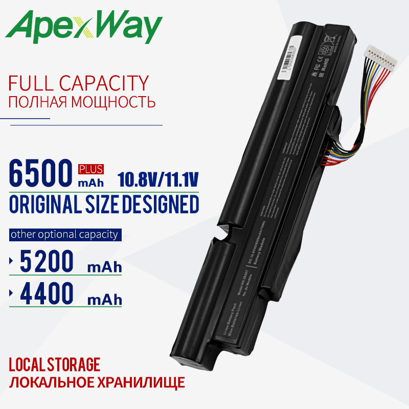 4400MAh 11.1V 6CELL AS11A3E AS11A5E Laptop battery for Acer Aspire TimelineX 3830T 4830T 5830T 3830TG <font><b>4830TG</b></font> 5830TG 3INR18/65-2 image