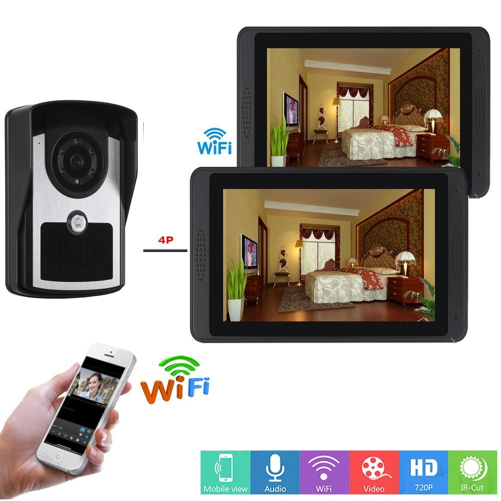 SmartYIBA APP Remote Control Video Intercom 7 Inch LCD Wifi Wireless Video Door Phone Doorbell Visual IR Camera Intercom System