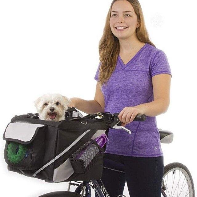 Sac de transport de vélo pour animaux de compagnie, siège de vélo pour chiot, chien, chat, petit Animal, pour randonnée, accessoires de panier de cyclisme 1