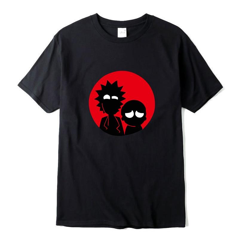 High Quality 100% Cotton Short Sleeve Crewneck Loose Rick And Morty Printed Men Tshirt Cool Men Tshirt Male Men Tee Shirts