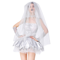 Lady Sexy Mexico Corpse Bride Costume Carnival Day Of The Dead Spirit Halloween Horror Ghost Cosplay Fancy Party Dress