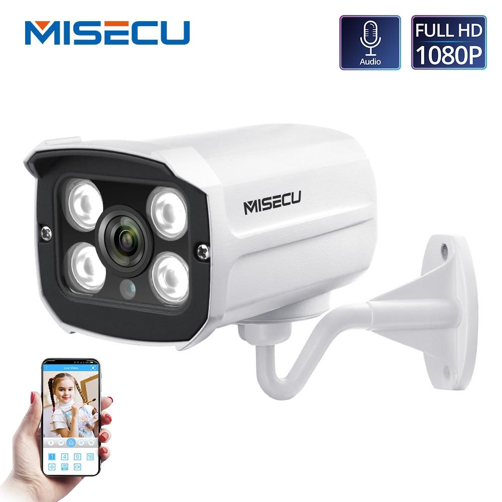 MISECU H.265 Audio Camera Sound Record DC 12V 48V POE Waterproof Metal 2.0MP Full HD Motion detect RTSP FTP Onvif Night visionrecording ip cameraip cameraip camera waterproof -