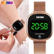 Цифровые часы skmei с сенсорным экраном и светодиодным дисплеем