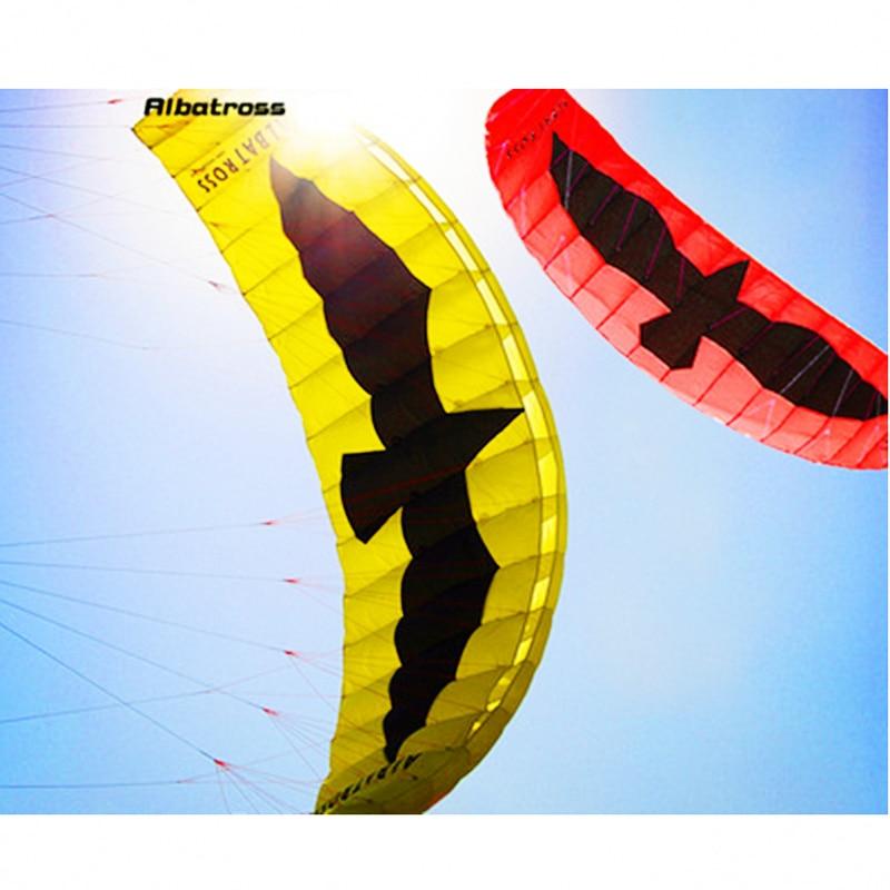 4.3m grand aigle Double ligne volant cerf-volant parapente Sports doux parapente Nylon plage cerf-volant cascadeur adulte extérieur jouet Anti-déchirure