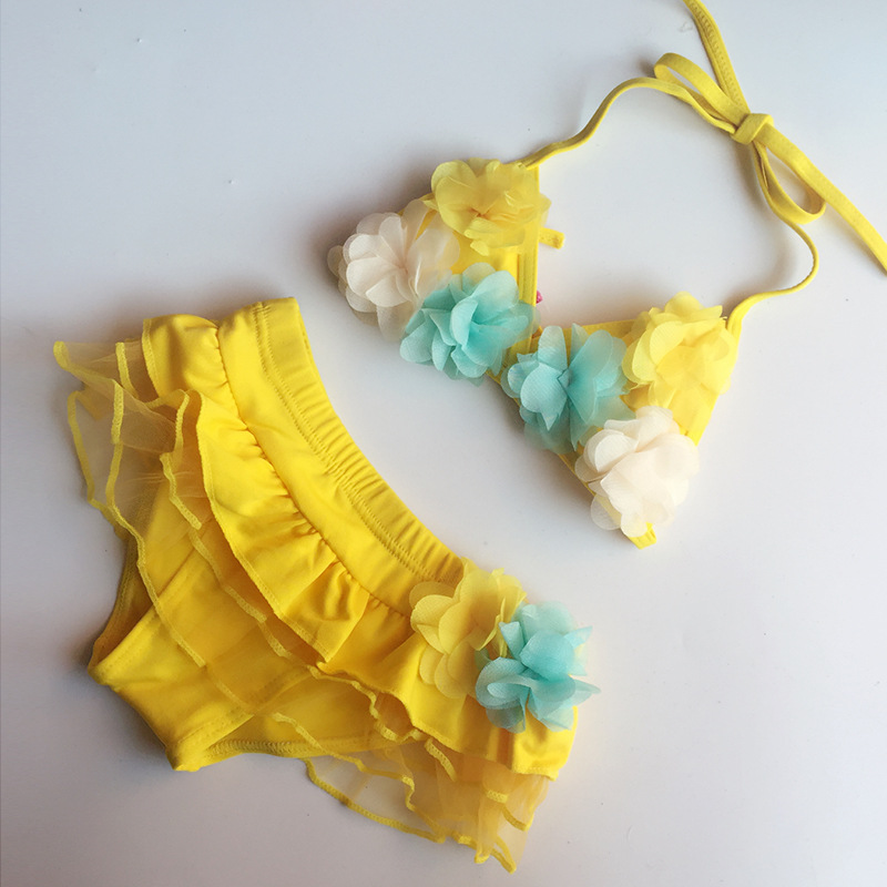 South Korea Baby Bikini Children Infants Small Size Skirt Hot Springs GIRL'S Skirt Dacron Cute Bathing Suit
