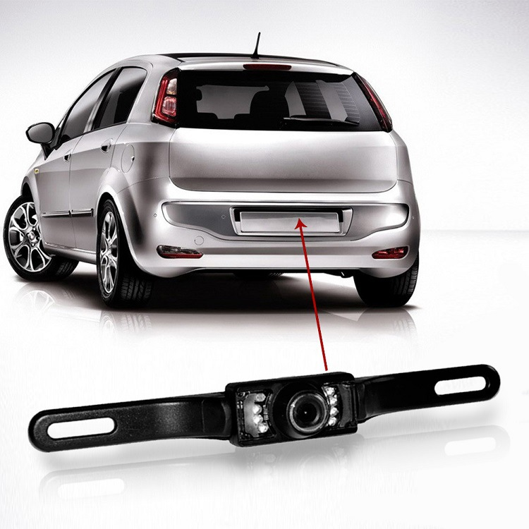 Long License Plate Frame Universal CCD High-definition Night Vision Color 170-Degree Car Rear View Car Reversing Camera