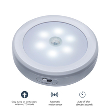 6LED PIR Body Motion Sensor Activated Wall Light Night Light Induction Lamp Closet Corridor Cabinet led Sensor Light