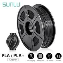 Sunlu 1.75mm pla mais filamento 1kg precisão dimensão +/-0.02 multi-cor para escolher filamento da impressora 3d