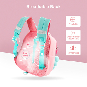 Image 5 - Cocomilo 3D Cartoon Unicorn Kids School Bag Kawaii Soft Pink Unicorn Cute Kindergarten Backpack Toddler Baby Bag Children Gift