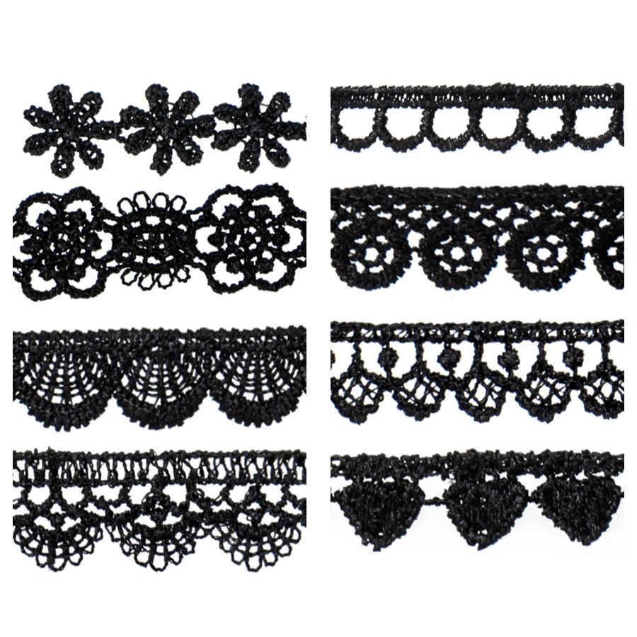 1 adet Moda bez kolye takı siyah bez Dantel Dövme gerdanlık kolye kadınlar için hediye kız Kolye Yılbaşı hediyeleri