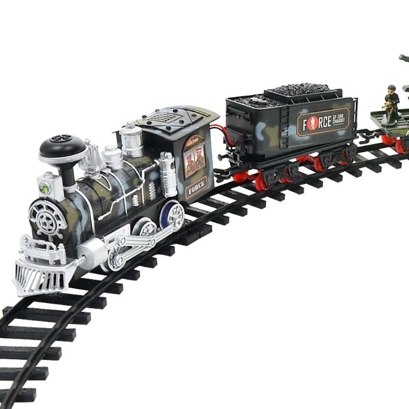Children Electric Remote Control Rail Train Set Simulation Assembly Model Toy B36E