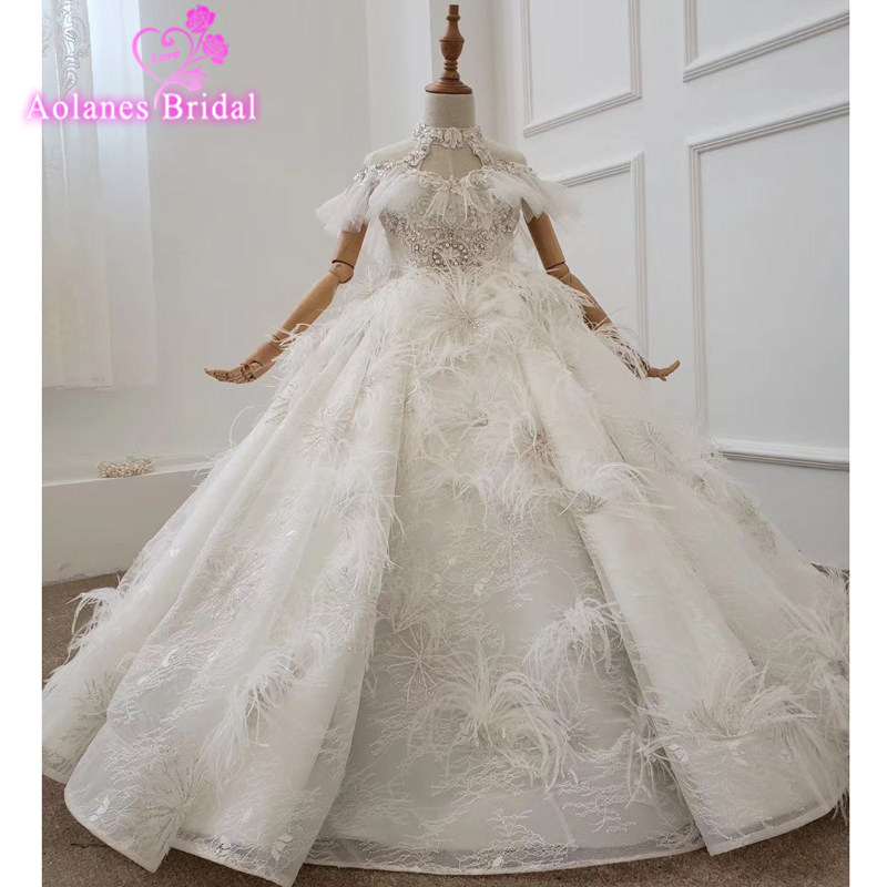 New Kids Pageant Glitters Evening Gowns 2019 Lace Ball Gown Flower Girl Dresses Crystals For Weddings First Communion Dresses