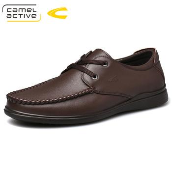 Camel Active nowy jesień męskie buty biznes na co dzień prawdziwej skóry męskie mokasyny młodzieży wykwintne skóry wołowej buty mężczyźni miękkie ze świńskiej skóry tanie i dobre opinie Skóra bydlęca Gumowe Oksfordzie Pasuje prawda na wymiar weź swój normalny rozmiar Oddychająca Wodoodporna Wiosna jesień